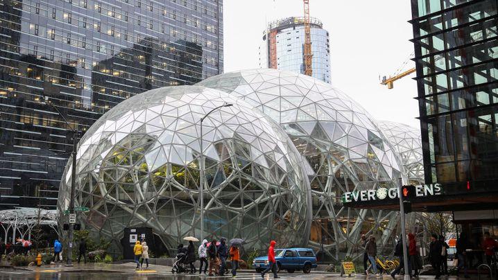 """Glaskugeln """"Spheres"""" in Seattle eröffnet: Amazons neue grüne Welt"""