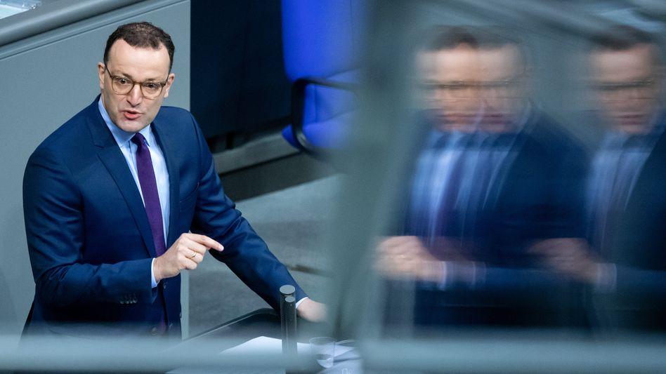 Verteidigt die neue Gesetzesvorlage: Bundesgesundheitsminister Jens Spahn im Deutschen Bundestag