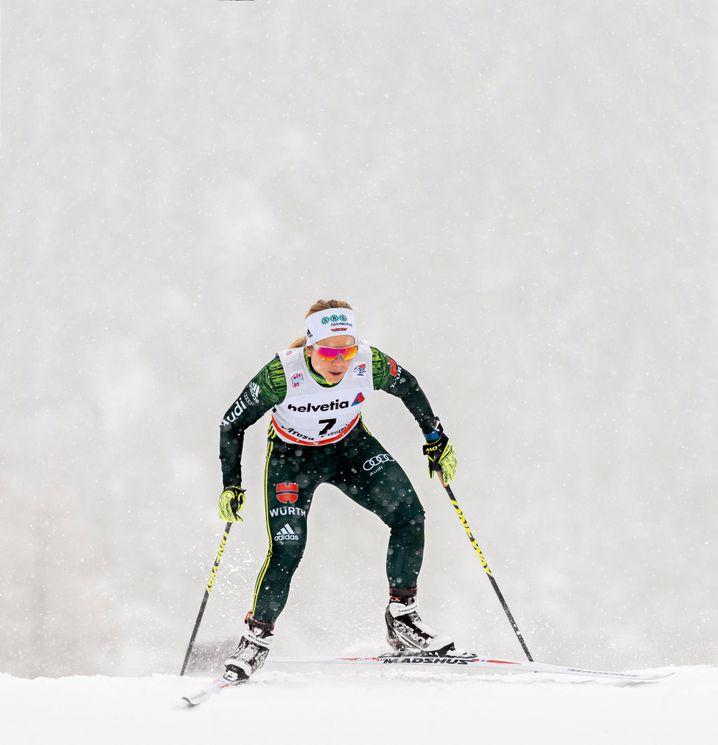 Skilangläuferin Sandra Ringwald: Beim Sprint kommt es auf Kleinigkeiten an