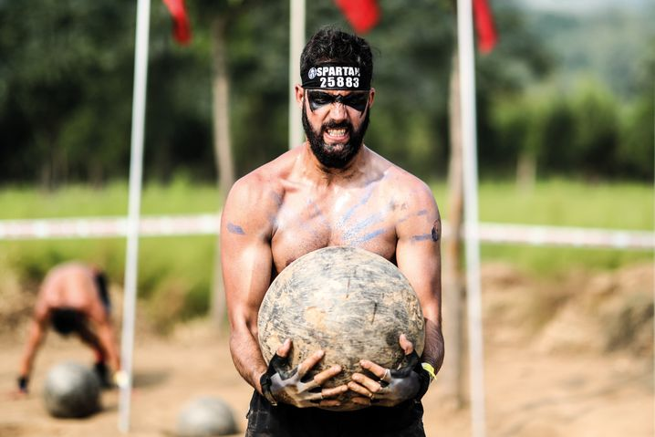 Extremsport-Hype: Spartan Race in Peking - der Name ist Programm.