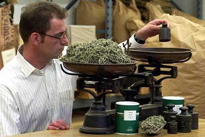 Fein justiert: Christoph Michaelsen, Geschaeftsfuehrer des Tee-Importeurs W.B. Michaelsen & Co., hat sich auf die Nischenbranche exklusiver Tees spezialisiert.
