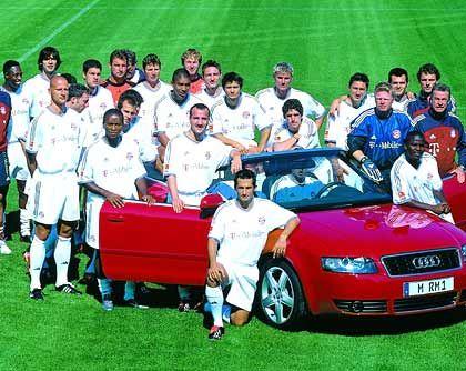 13.000 PS für den Verein: Die Bayern fahren auf Audi ab