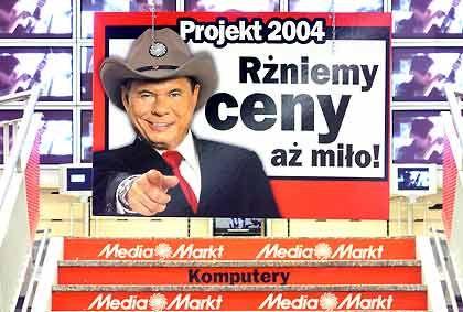 Längst Teil der EU: Reklame für den Media Markt in Polen