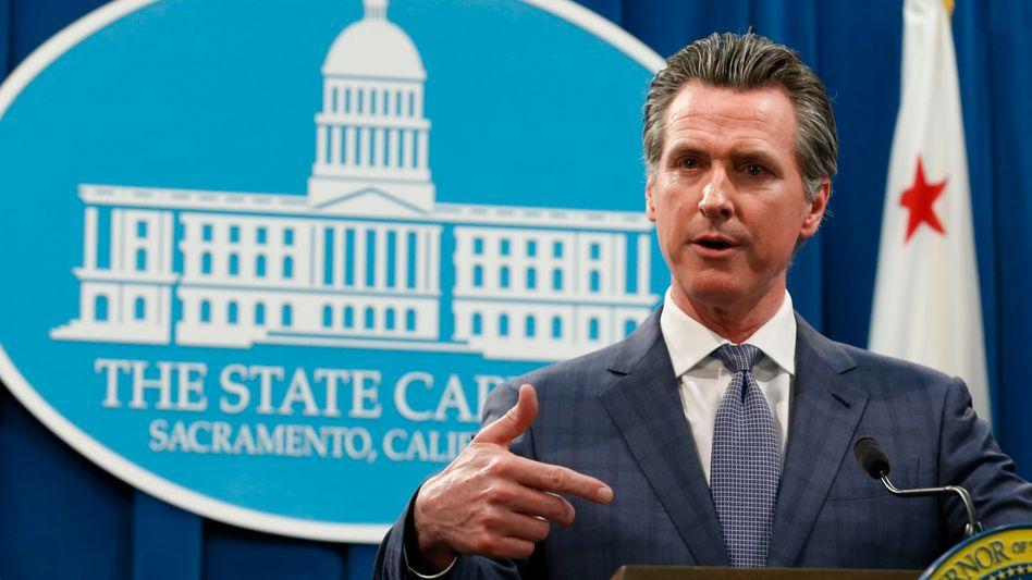 Risikofaktor Covid-19: Kaliforniens Gouverneur Gavin Newsom musste wegen der Virusausbreitung bereits den Notstand ausrufen - die USA insgesamt gelten ebenfalls als schlecht gewappnet.