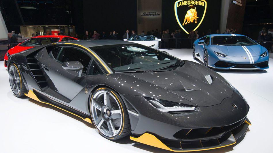 VW-Tochter Lamborghini auf dem Autosalon in Genf: Auch die VW-Aktie hat an der Börse zuletzt beschleunigt