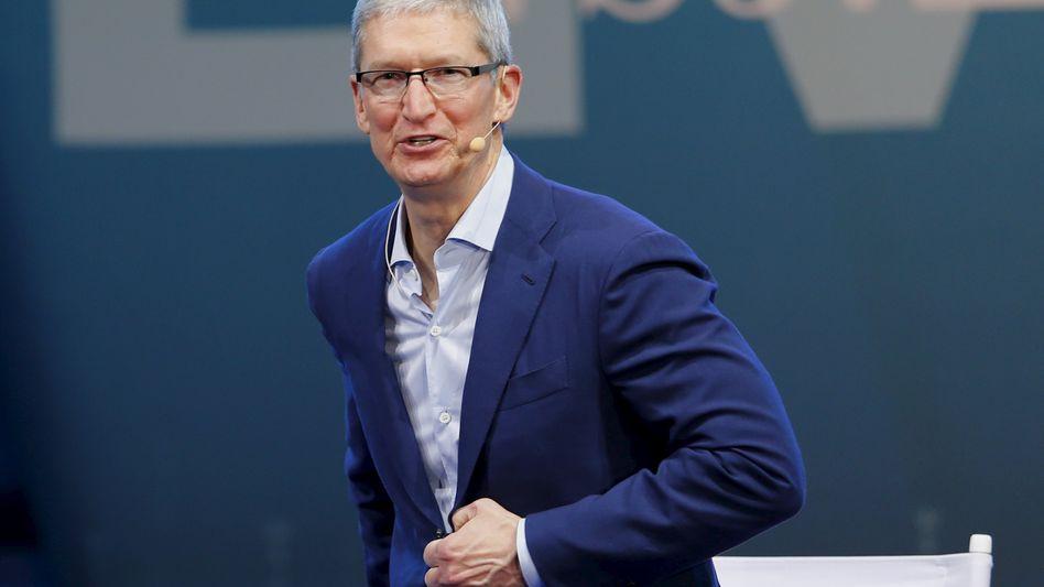 Ganz legale Steuertricks: Apple-Chef Tim Cook würde im Steuerstreit mit der EU auf jeden Fall gegen mögliche Steuernachforderungen angehen