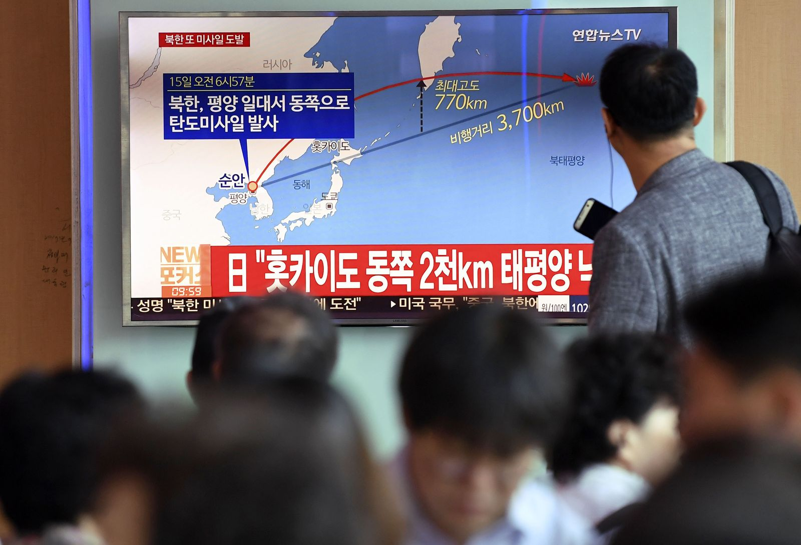 Nordkorea feuert erneut Rakete über Japan hinweg