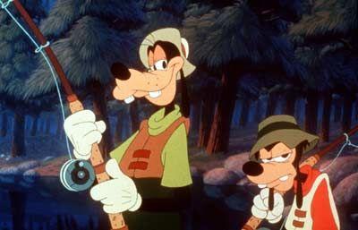 Fischen im Trüben: Goofy (l) und sein Sohn Max