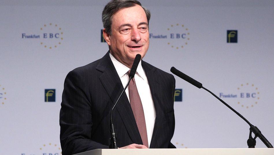 EZB-Chef Mario Draghi während seiner Rede am Freitag in Frankfurt.