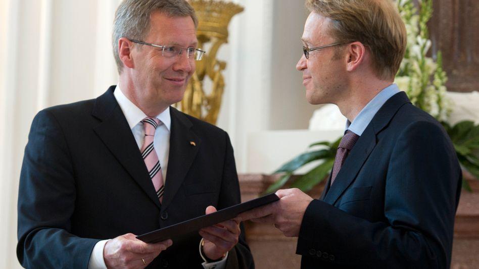 Bundespräsident Christian Wulff: Jens Weidmann zum Bundesbankchef ernannt
