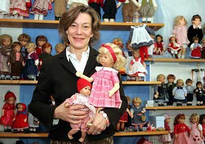 Puppen bei Mama: Käthe-Kruse-Chefin Andrea-Kathrin Christenson mit Modellen