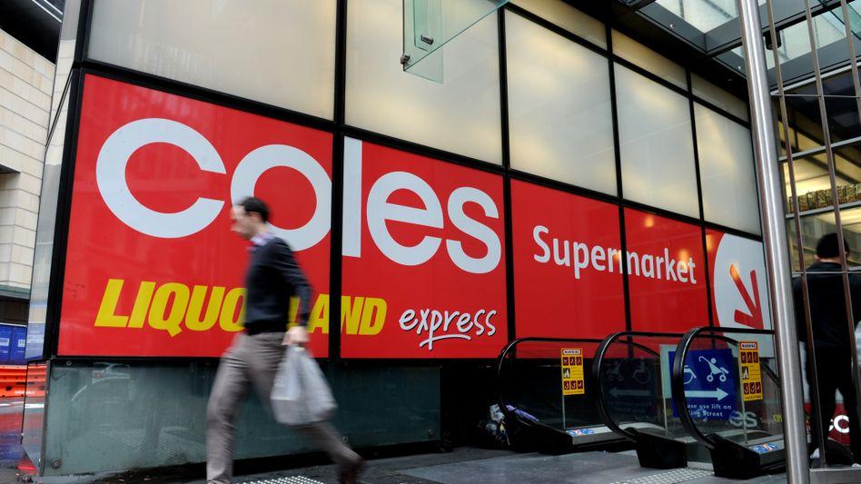 Filiale der australischen Supermarktkette Coles