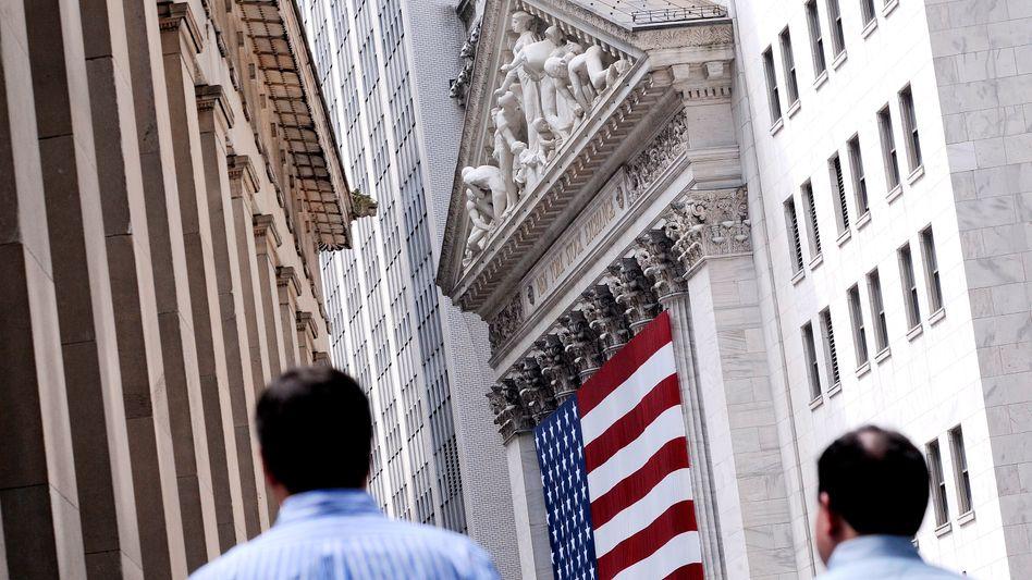 Börse in New York: Die Börsengebäude dienen eher als Kulisse für Touristen