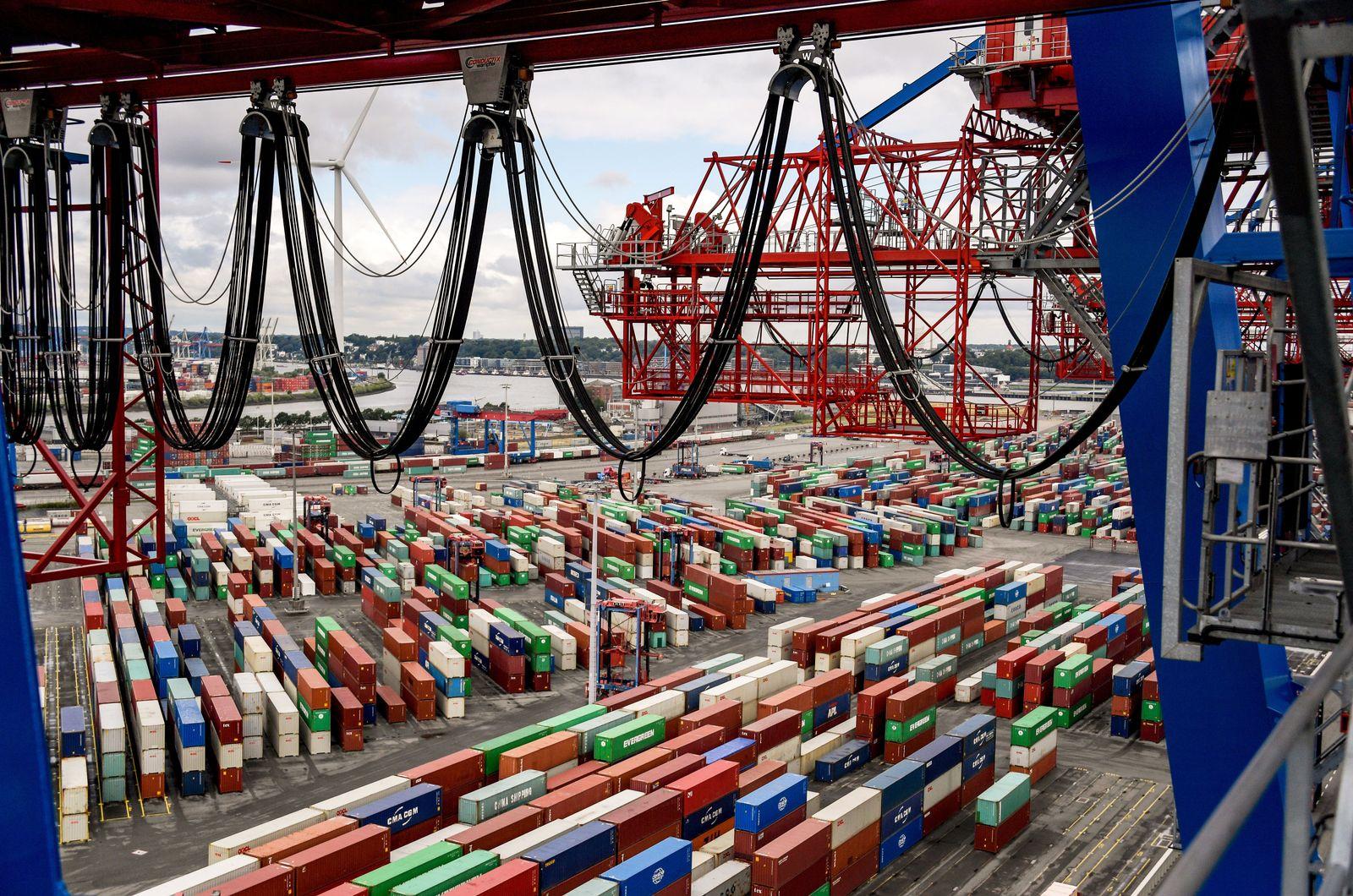 Deutschland / Konjunktur / Export / Import / Wirtschaft / Container Hamburger Hafen