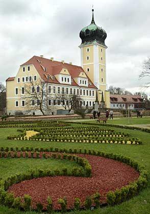 Barockgarten des Delitzscher Schlosses: Das Garten-Kleinod soll die früheste in ihrer ursprünglichen Form erhaltene barocke Gartenanlage Deutschlands sein.