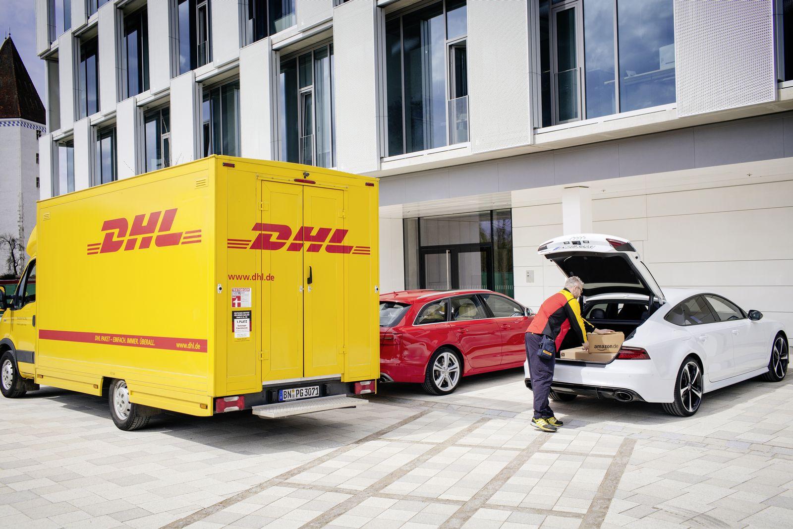 Audi / DHL / Paketzustellung in den Kofferraum