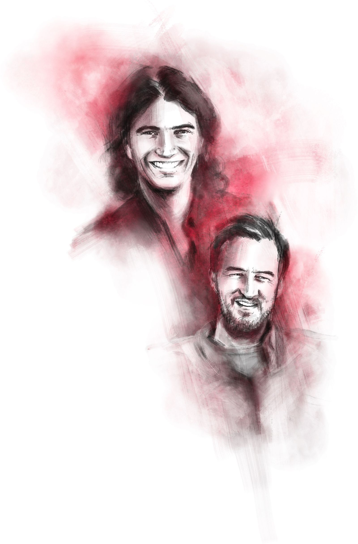 Miguel McKelvey (l.) and Adam Neumann