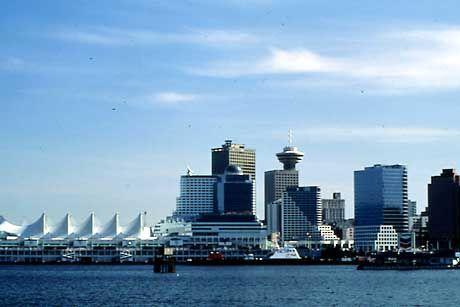 Stadtsilhouette Vancouver: Perle am Pazifik