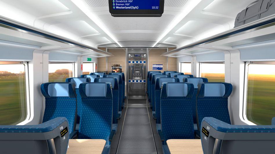 Deutsche Bahn: Mehr Platz im ECx. Der neue Zug soll auf den Strecken Berlin-Amsterdam und Hamburg-Westerland zum Einsatz kommen