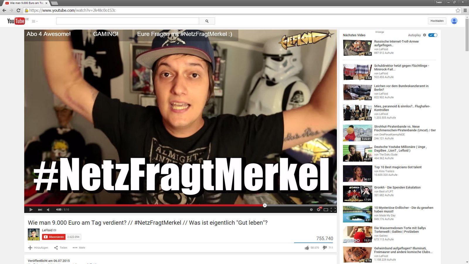 SCREENSHOT YouTube - LeFLoid - NetzFragtMerkel