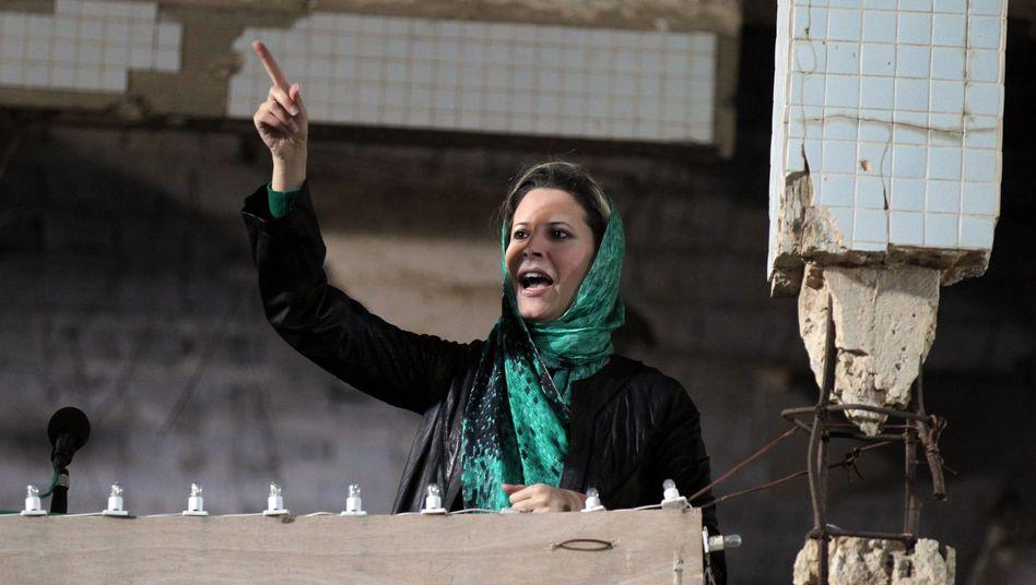 Keine Durchhalteparolen mehr: Aischa Gaddafi im April noch in Tripolis
