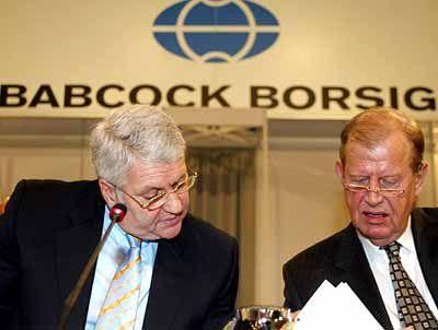Bereicherung auf Kosten des Konzerns? - Lederer (links) mit Aufsichtsratsmitglied Friedel Neuber