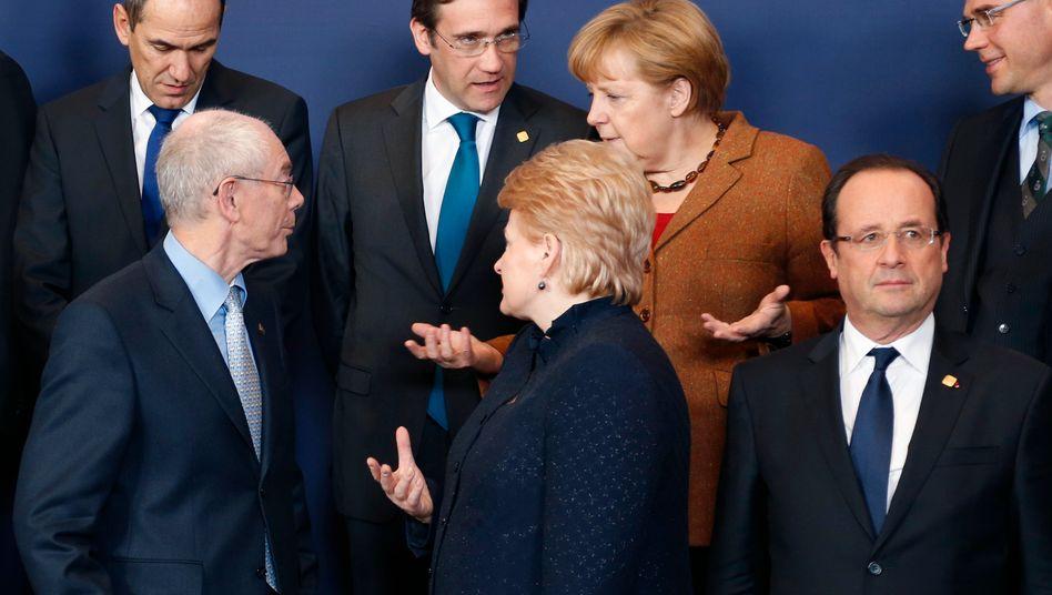 Enttäuschte Gesichter bei den Staats- und Regierungschefs der EU
