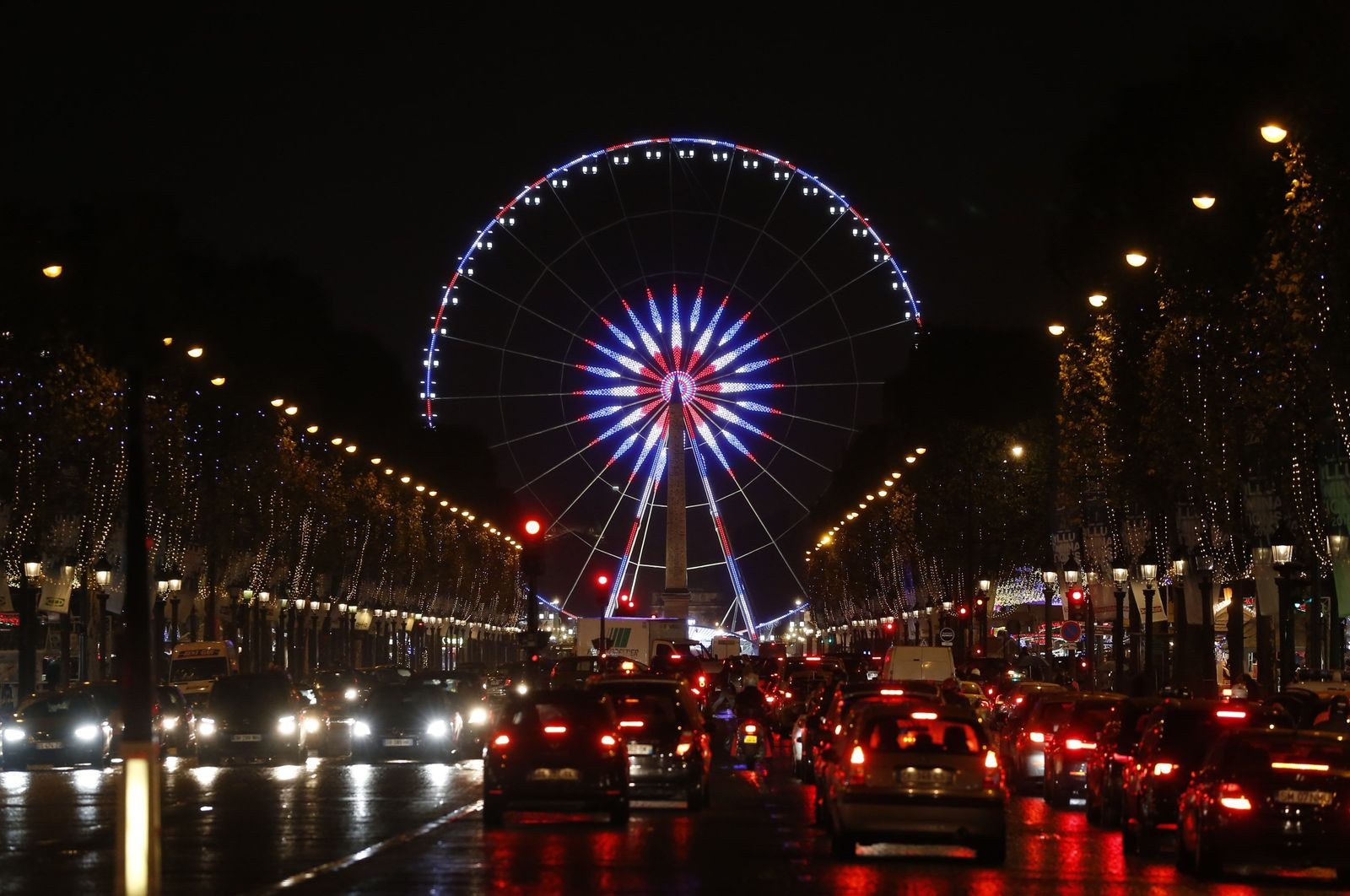 Paris Riesenrad Farben Trikolore