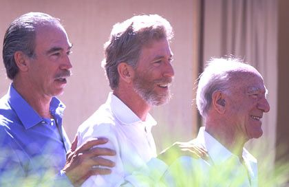 Michael, Tim und Robert Mondavi