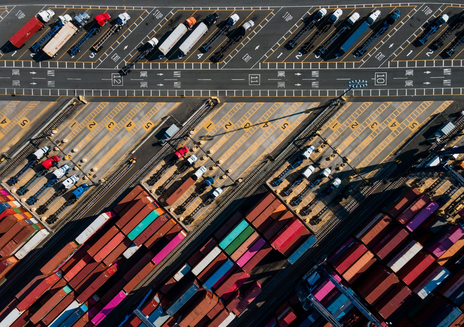 Global Supply Chain, Shipping Containers at Port of New York and New Jersey