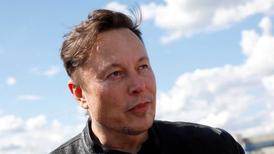 Twitter-Fan: Elon Musk vor wenigen Tagen bei einem Besuch der Tesla-Baustelle in Grünheide bei Berlin