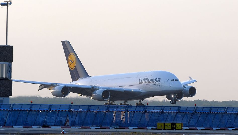 A380 der Lufthansa in Frankfurt