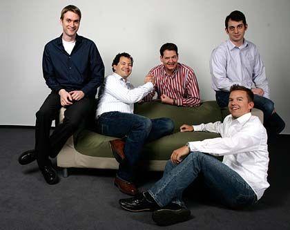 Das Cellity-Management: Matthias Lanz, Tim von Törne, Sarik Weber, Benjamin Körber, Nils Weitemeyer (v.l.)
