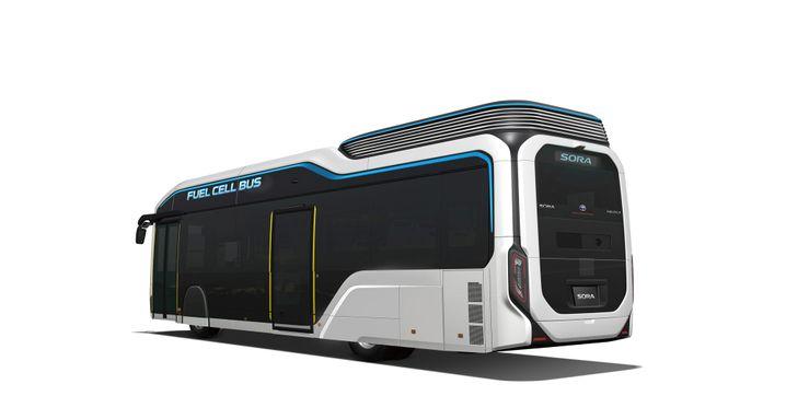 Zur Olympiade 2020 in Tokio will Toyota 100 SORA-Wasserstoffbusse einsetzen.