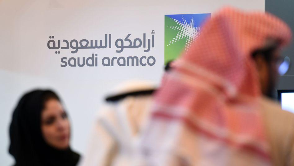 Saudi-Aramco-Logo in Riad (Archivaufnahme)