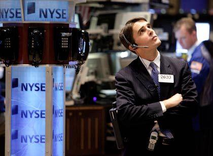 Kein Aufschwung: Die Kurse an der Wall Street sinken