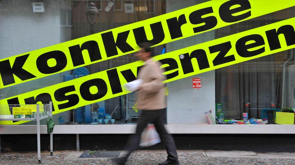 Die Zahl der Insolvenzen in Deutschland soll trotz Rezession vorerst niedrig bleiben