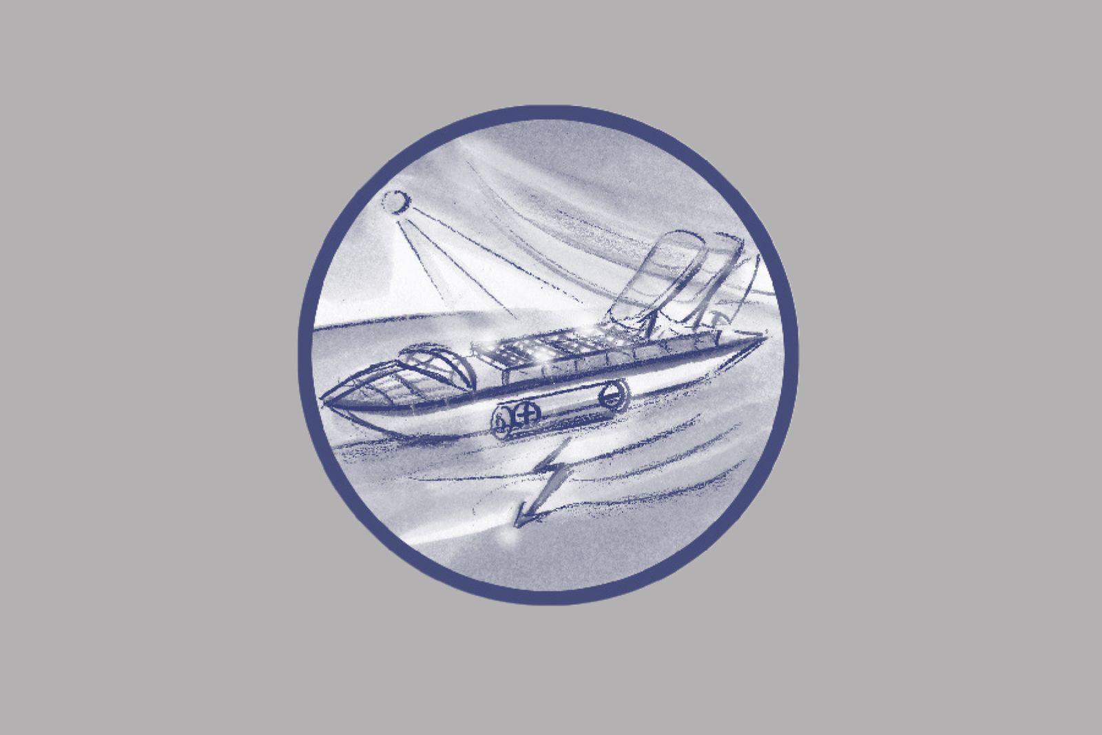 EINMALIGE VERWENDUNG ILLUSTRATION / Wie wir uns morgen bewegen werden / 42 Grüne Containerschiffe