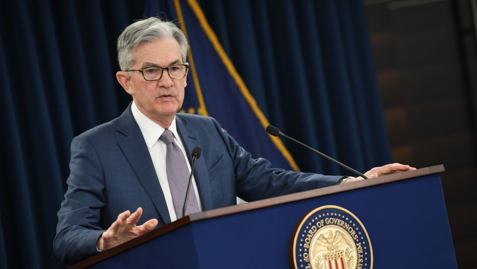 """US-Notenbankchef Powell: """"Nullzinspolitik, bis die Inflation auf dem Weg ist, für einige Zeit das Ziel von 2 Prozent Teuerung moderat zu übertreffen"""""""