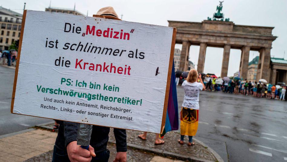 Corona-Demonstration in Berlin: Auch das muss eine Demokratie aushalten