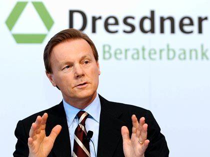 Übt Verzicht: Dresdner-Bank-Chef Walter