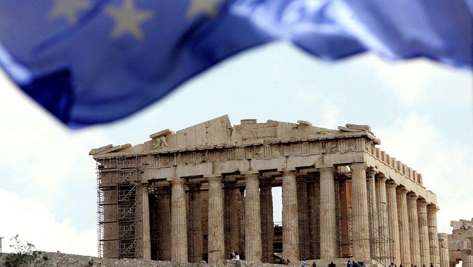 Griechenland-Hilfen: Rechnete man sie ein, summierten sich die Rettungsschirme auf 800 Milliarden Euro
