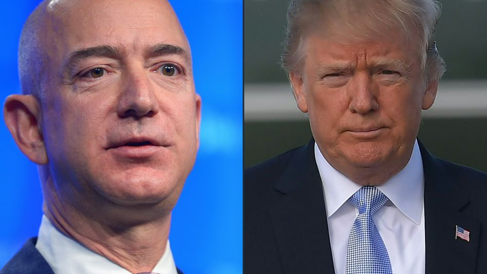 Jeff Bezos, Donald Trump: Der eine hat 119 Milliarden Dollar, der andere hat die NSA