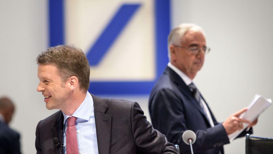 Deutsche-Bank-Chef Christian Sewing (links) und sein Aufsichtsratsvorsitzender Paul Achleitner