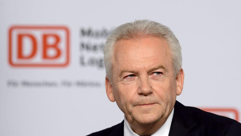 Die Bahn hat ihren Preis: Bahnchef Rüdiger Grube will mehr Geld