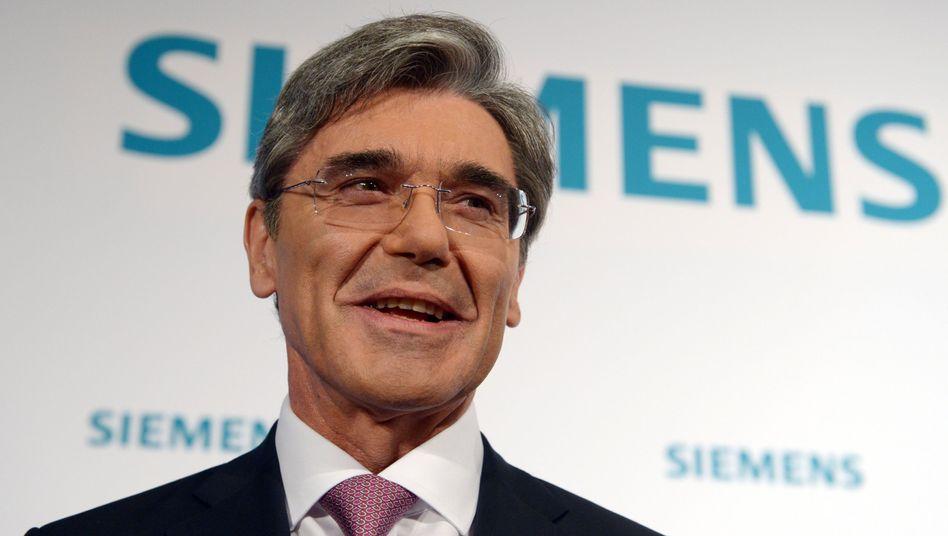 Ziel erreicht: Siemens-Chef Joe Kaeser sichert sich den US-Konzern Dresser-Rand - bevor Konkurrent Sulzer mit Ex-Siemens Chef Peter Löscher zugreifen konnte