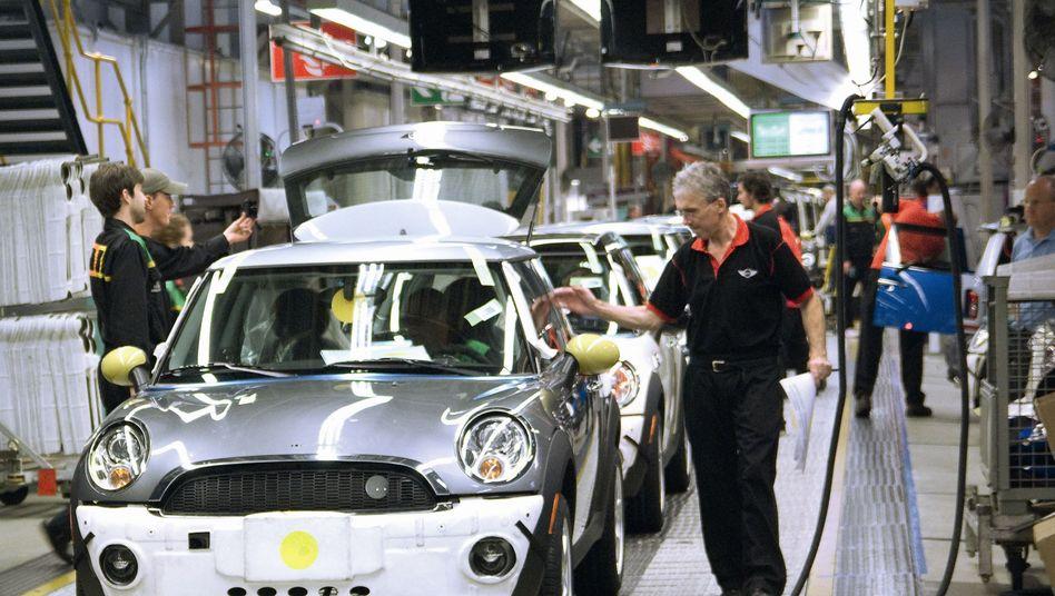 Werk der BMW-Marke Mini in Oxford: Die Bayern kamen 2013 auf einen Kapazitätsnutzungsgrad von über 90 Prozent