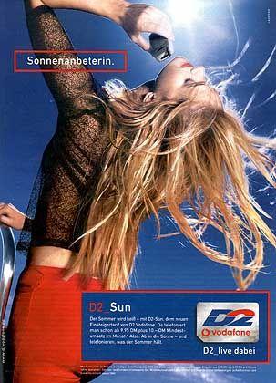 D2 mit dem SUN-Tarif: Sommer-Werbung kommt im Oktober nicht so gut