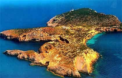 Insel Tago Mago, Ibiza (Spanien), Größe: 6.000 Quadratmeter, Preis: nicht zu kaufen, demnächst zu mieten.