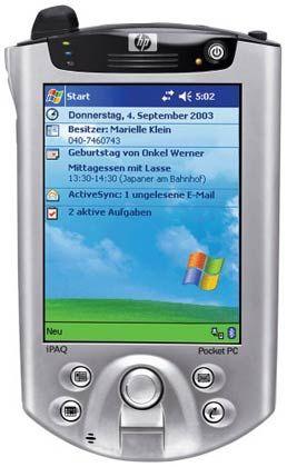 Mit Bluetooth und W-Lan: PDA IPAQ H5550 von Hewlett-Packard